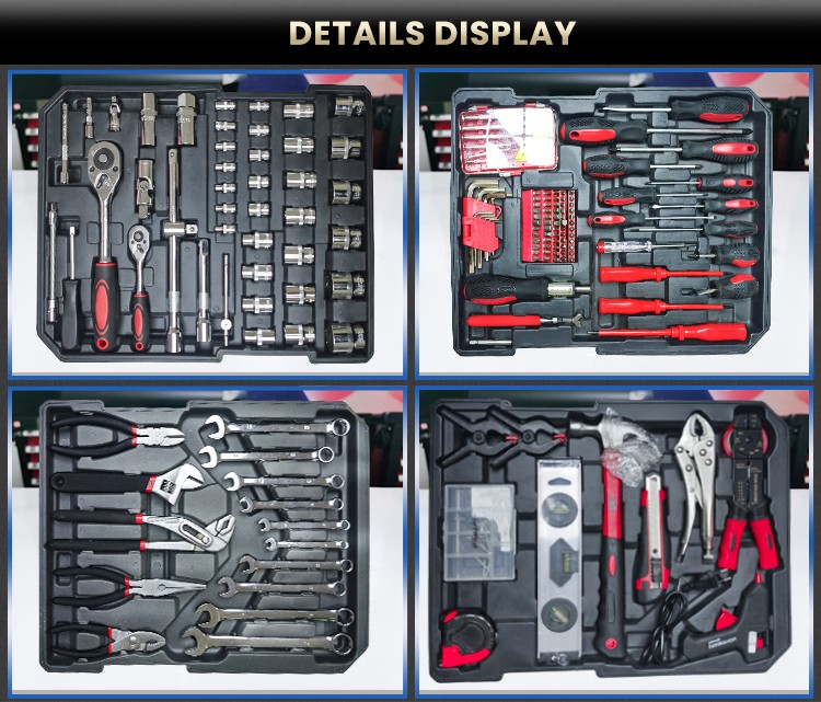 186pcs Germany Tools Trolley Tool Set Hand Tools