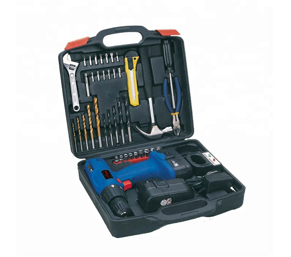44PCS Professional Cordless Drill Blowing Case Power Tool Set