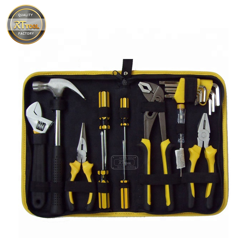 19pcs Hot Sell Canvas Motorcycle Portable Kit Hand Folding Electrician Tool Bag