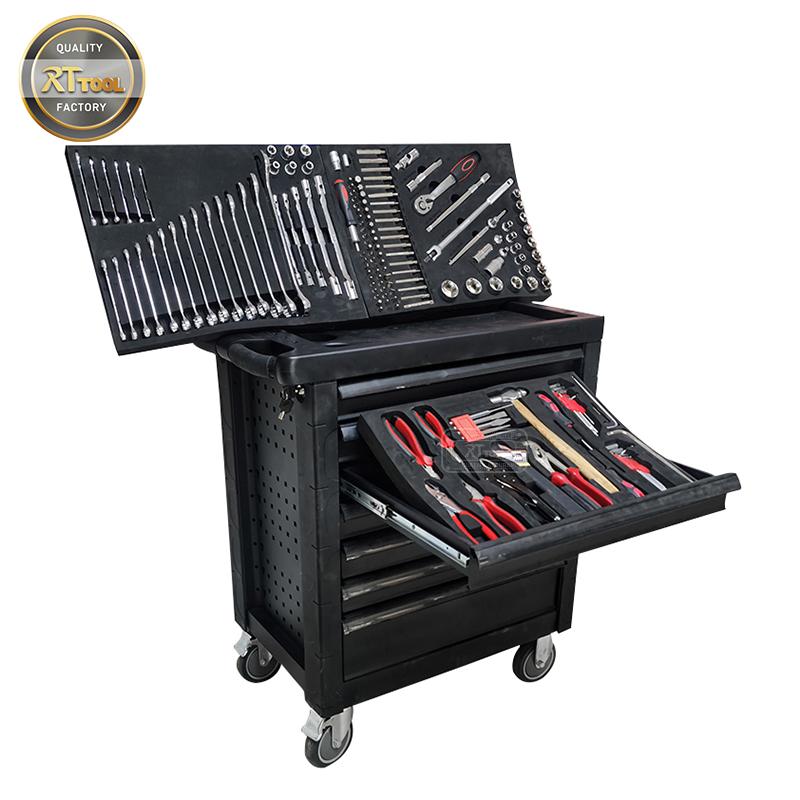 165pcs Tool Cabinet Tool Mechanic Chest Tool Workshop Trolley Set