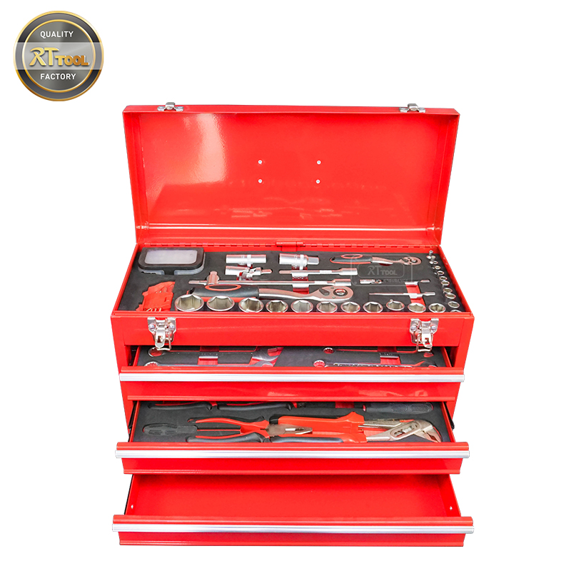 RTTOOL Hand Tool Set Metal Household Tool Set Box Professional