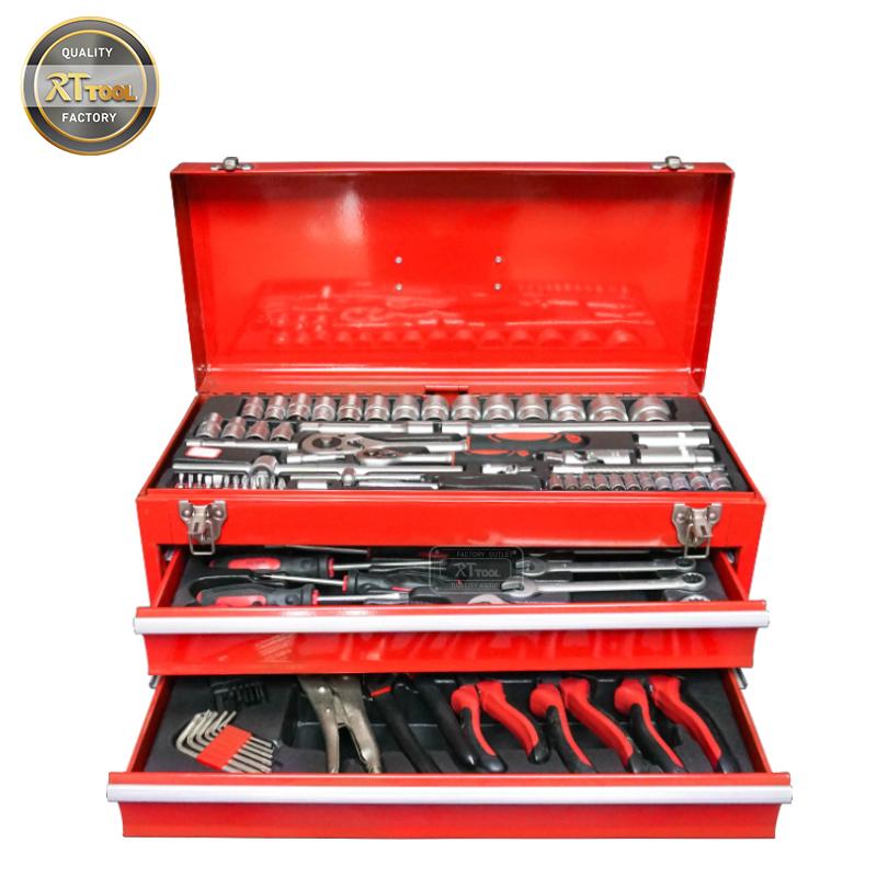 RTTOOL 117pcs Professional Tools Box Set Mechanic,Working Tools Set
