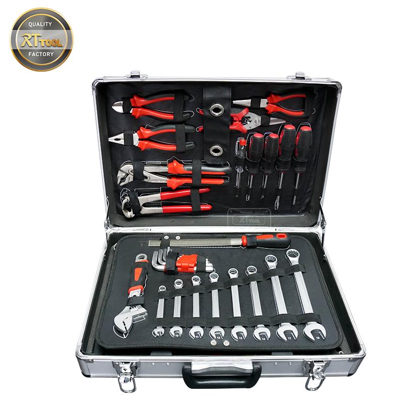 RTTOOL 125pcs Aluminum Tool Case,Hand Tool Set Professional Mechanic herramientas