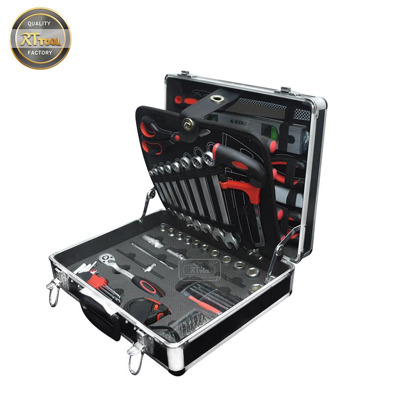 RTTOOL 99PCS Multi Purpose Hand Tools Set Tool Box Socket Tool Sets Professional