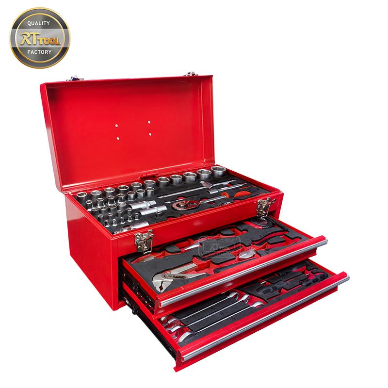 85 PCS Metal Box with Tools Multi Professional Hand Tool Set